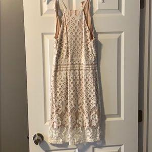 Lulus White Lacey Dress